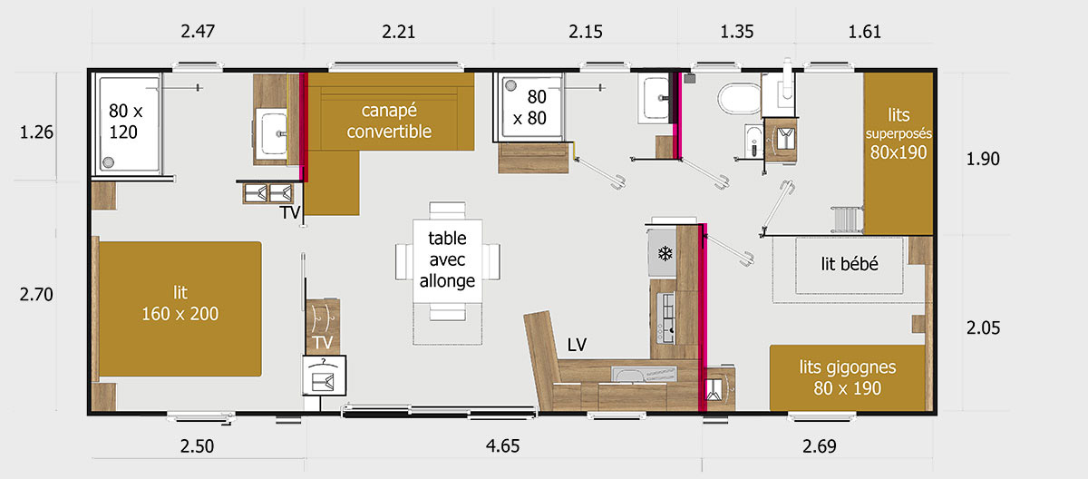 Plan mobile-home New-Valley